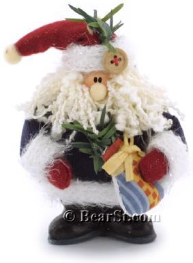Gund Country Kringles Santa Ornament, blue